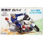 Honda VFR800P Police Motorcycle (white) With Driver Figure 1/12 Мотоциклы 1/12