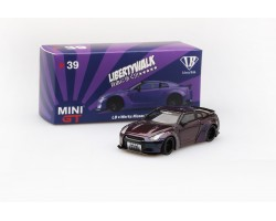 LB★Works Nissan GT-R R35 type 1 Magic Purple Mini GT